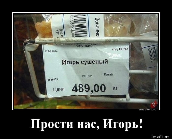 Прости нас, Игорь!