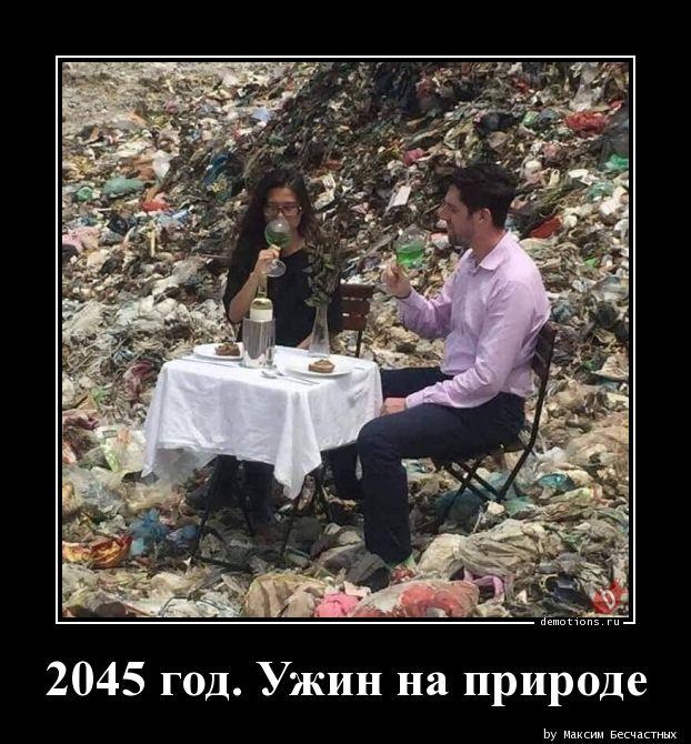 2045 год. Ужин на природе