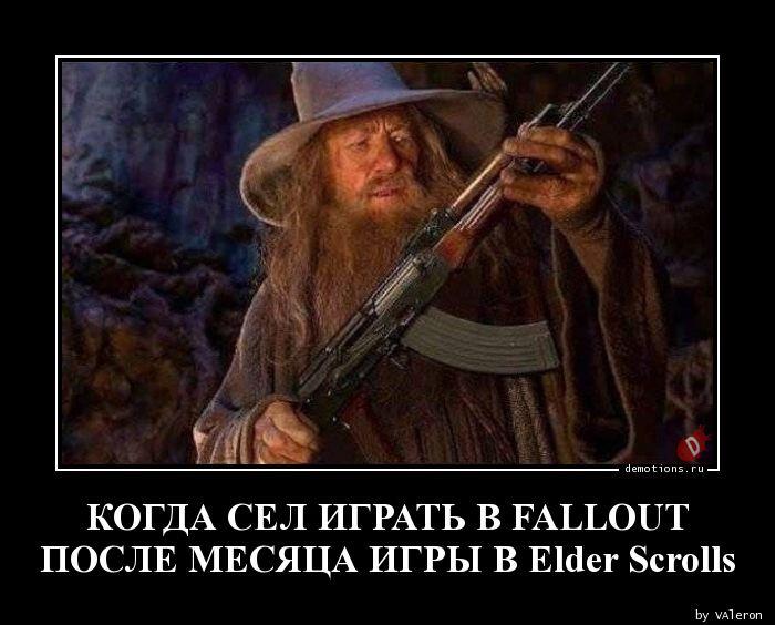 КОГДА СЕЛ ИГРАТЬ В FALLOUT  ПОСЛЕ МЕСЯЦА ИГРЫ В Elder Scrolls