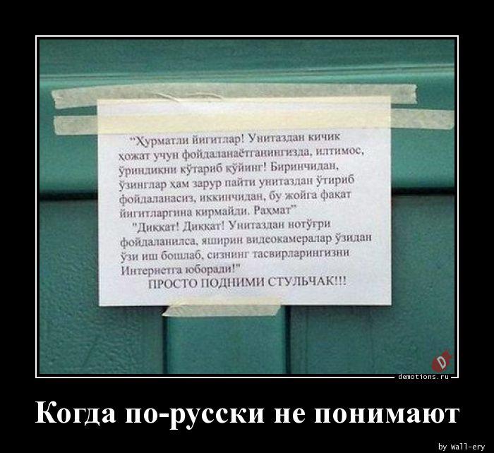 Когда по-русски не понимают