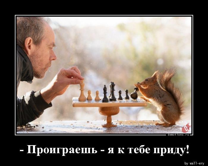 - Проиграешь - я к тебе приду!
