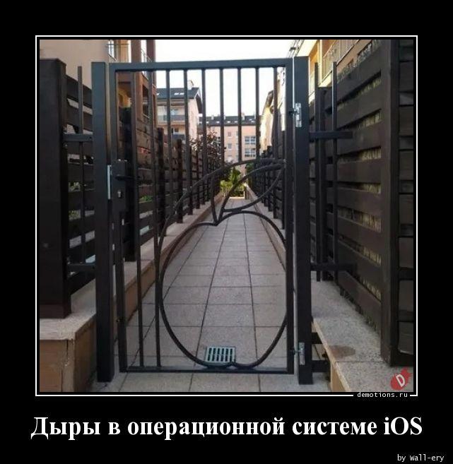 Дыры в операционной системе iOS