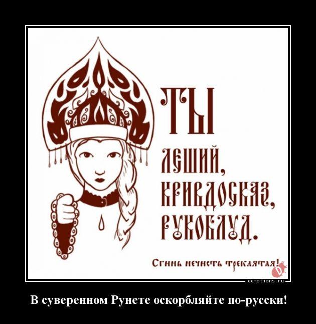 В суверенном Рунете оскорбляйте по-русски!