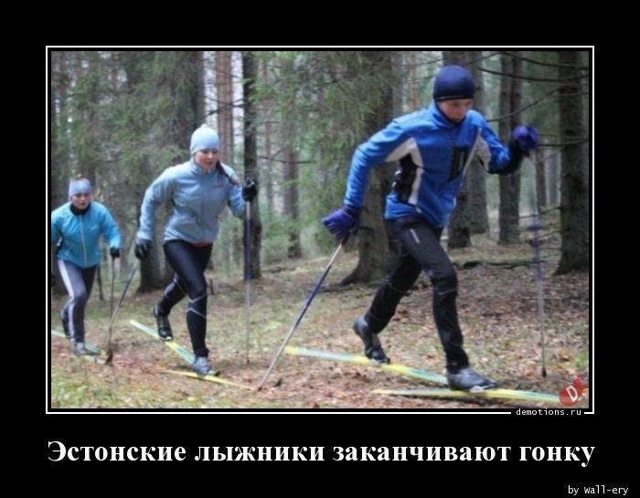 Эстонские лыжники заканчивают гонку