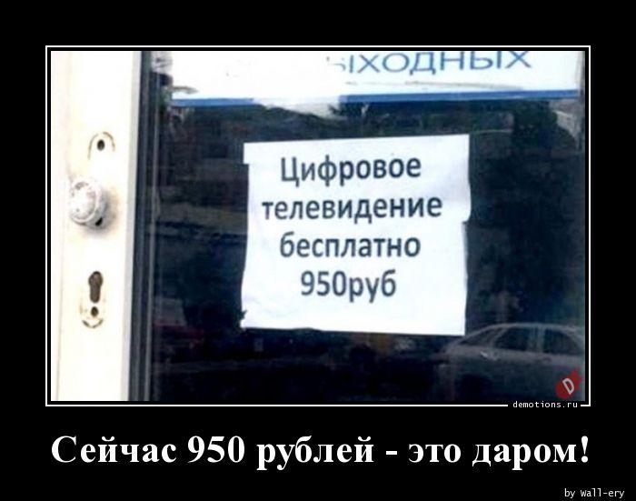 Сейчас 950 рублей - это даром!