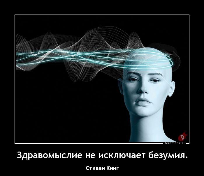 Здравомыслие не исключает безумия.
