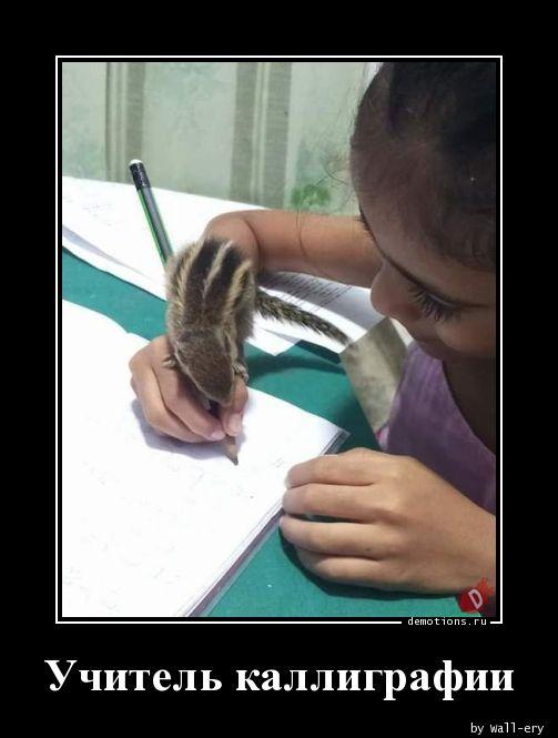 Учитель каллиграфии