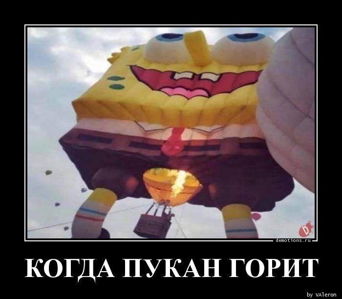 КОГДА ПУКАН ГОРИТ