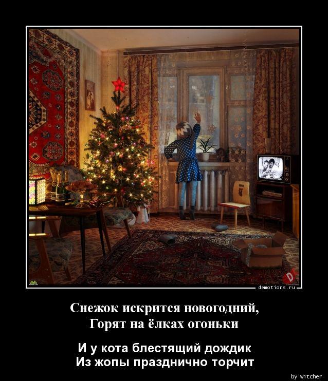 Снежок искрится новогодний, Горят на ёлках огоньки
