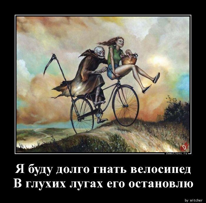 Я буду долго гнать велосипед В глухих лугах его остановлю