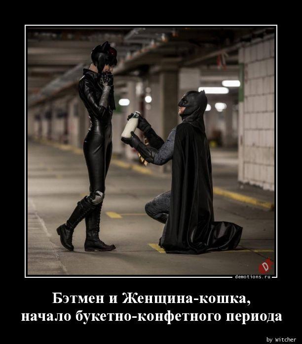 Бэтмен и Женщина-кошка, начало букетно-конфетного периода
