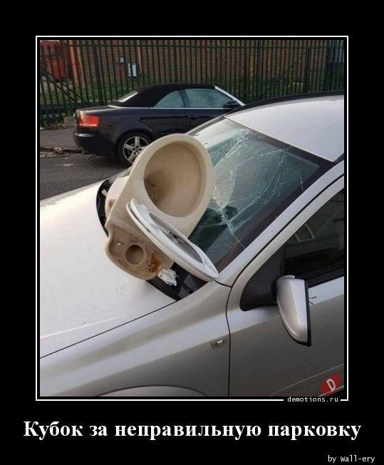 Кубок за неправильную парковку