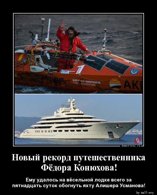 Новый рекорд путешественника Фёдора Конюхова!