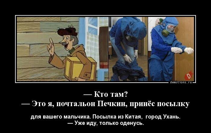 — Кто там? — Это я, почтальон Печкин, принёс посылку