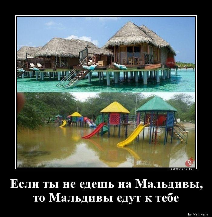 Если ты не едешь на Мальдивы, то Мальдивы едут к тебе