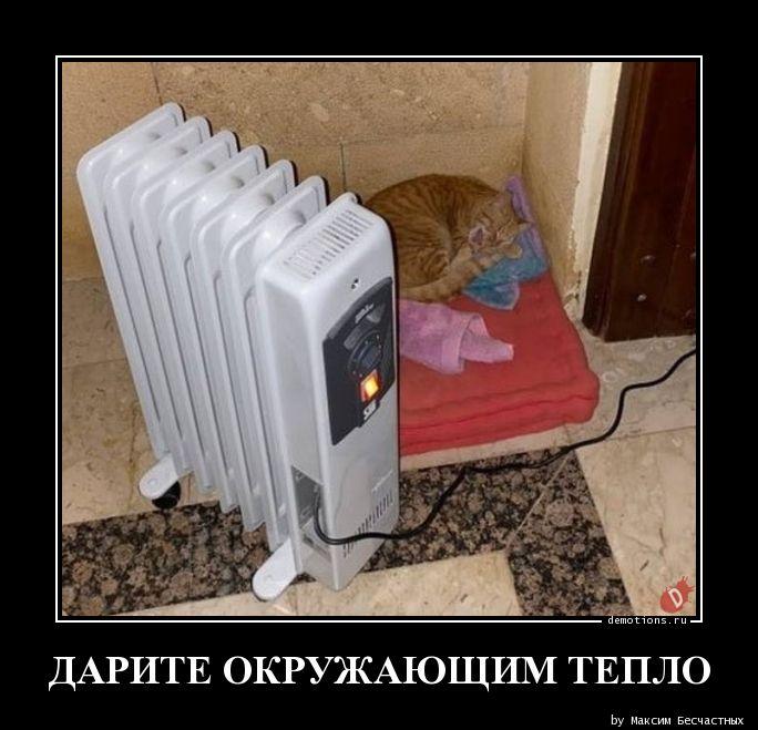 ДАРИТЕ ОКРУЖАЮЩИМ ТЕПЛО