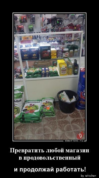 Превратить любой магазин  в продовольственный
