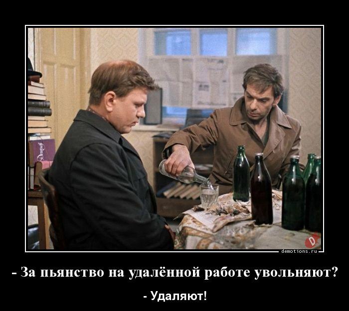 - За пьянство на удалённой работе увольняют?