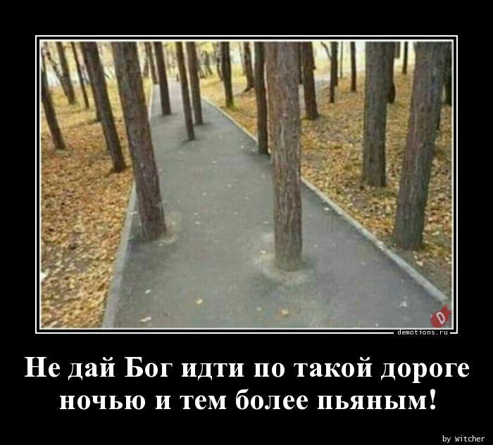 Не дай Бог идти по такой дороге ночью и тем более пьяным!