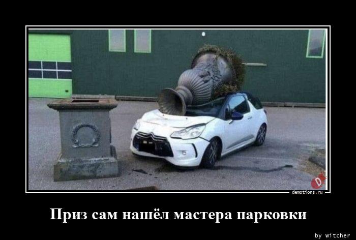 Приз сам нашёл мастера парковки