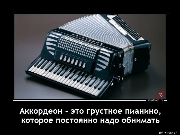 Аккордеон - это грустное пианино,  которое постоянно надо обнимать