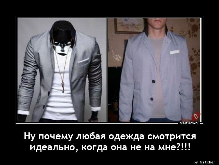 Ну почему любая одежда смотрится идеально, когда она не на мне?!!!