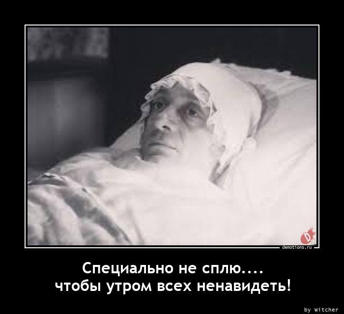 Специально не сплю.... чтобы утром всех ненавидеть!