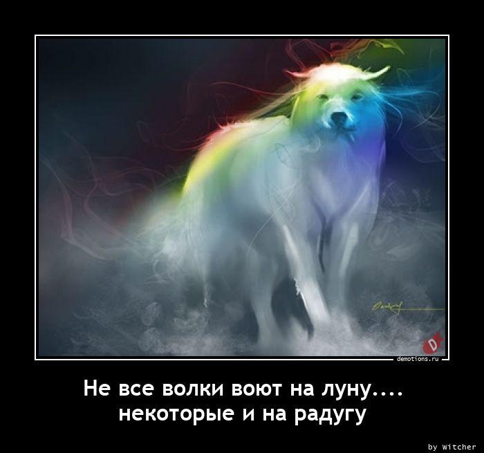 Не все волки воют на луну.... некоторые и на радугу