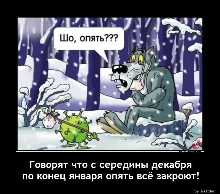 Говорят что с середины декабря  по конец января опять всё закроют!