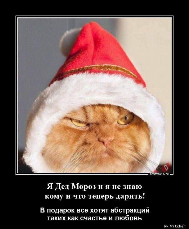 Я Дед Мороз и я не знаю кому и что теперь дарить!