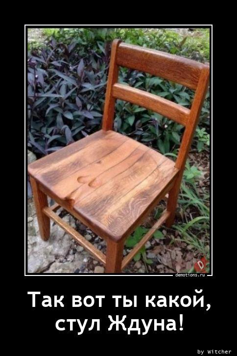 Так вот ты какой,  стул Ждуна!