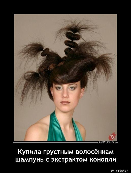 Купила грустным волосёнкам шампунь с экстрактом конопли