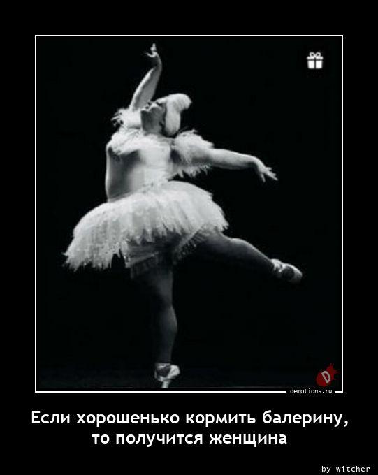 Если хорошенько кормить балерину, то получится женщина