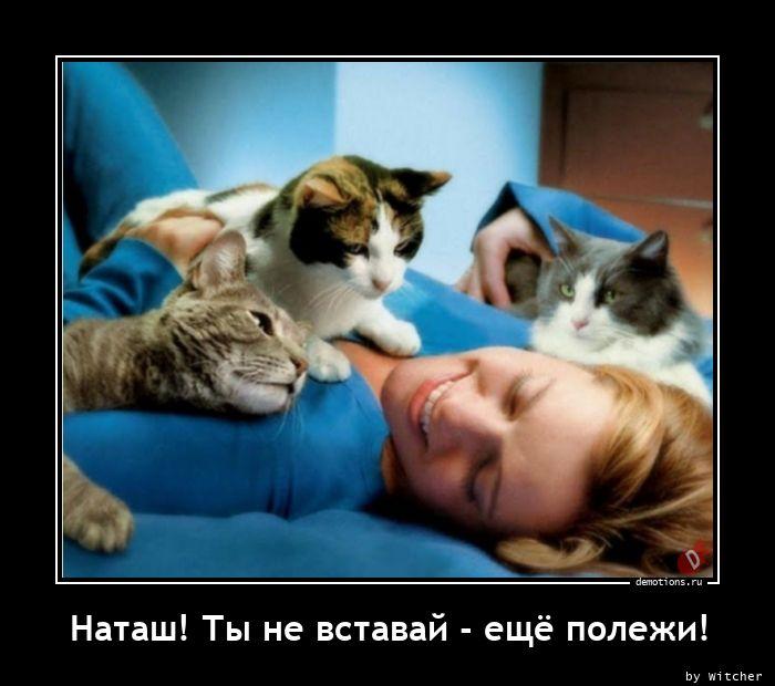 Наташ! Ты не вставай - ещё полежи!