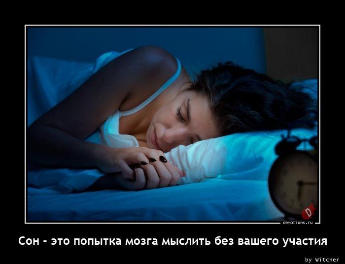 Сон - это попытка мозга мыслить без вашего участия