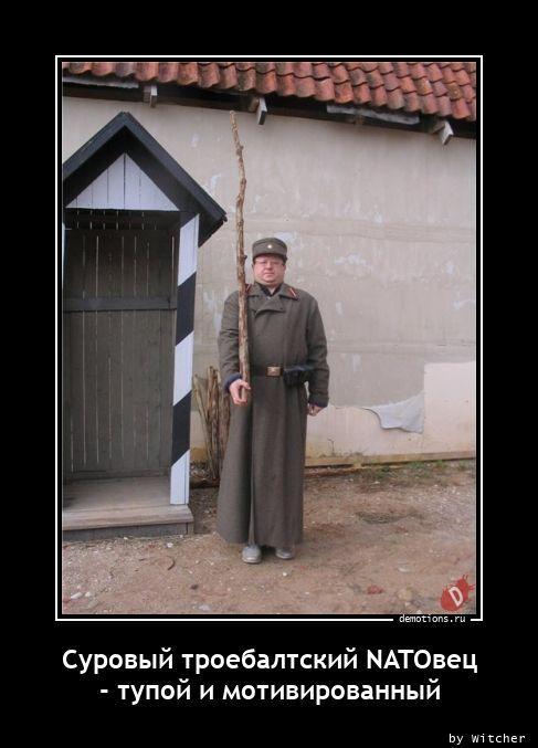Суровый троебалтский NATOвец - тупой и мотивированный