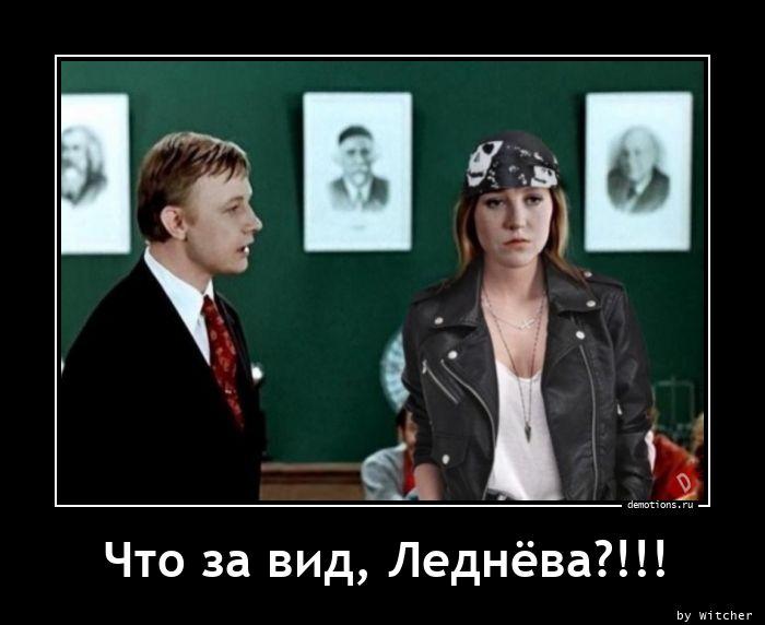 Что за вид, Леднёва?!!!