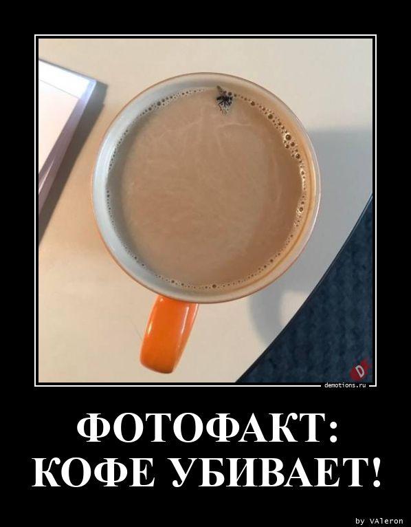 ФОТОФАКТ: КОФЕ УБИВАЕТ!