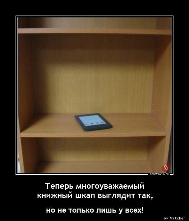 Теперь многоуважаемый книжный шкап выглядит так,